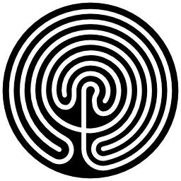 Labyrinthe crétois. Source : http://data.abuledu.org/URI/501c598b-labyrinthe-cretois