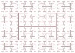 Labyrinthe de l'arbre du H en fractales. Source : http://data.abuledu.org/URI/53cd9e5b-labyrinthe-de-l-arbre-du-h-en-fractales