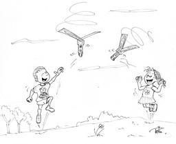 Lancement d'avions en papier. Source : http://data.abuledu.org/URI/55c0dfb8-lancement-d-avions-en-papier
