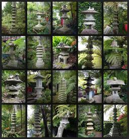 Lanternes en pierre japonaises. Source : http://data.abuledu.org/URI/55472fdd-lanternes-en-pierre-japonaises
