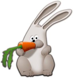 Lapin qui mange une carotte. Source : http://data.abuledu.org/URI/50171195-lapin-qui-mange-une-carotte