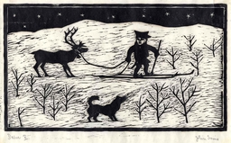 Lapon dans la neige avec son renne et son chien. Source : http://data.abuledu.org/URI/53014506-lapon-dans-la-neige-avec-son-renne-et-son-chien