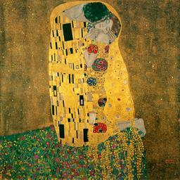 Le baiser de Gustav Klimt en 1907. Source : http://data.abuledu.org/URI/53e7f383-le-baiser-de-gustav-klimt-en-1907
