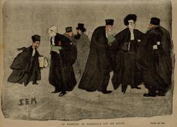 Le Barreau de Marseille en grève en 1900. Source : http://data.abuledu.org/URI/5861ccf1-le-barreau-de-marseille-en-greve-en-1900