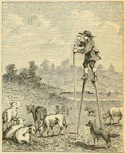 Le berger des Landes. Source : http://data.abuledu.org/URI/524de884-le-berger-des-landes