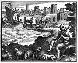 Le berger et la mer. Source : http://data.abuledu.org/URI/510bb72d-le-berger-et-la-mer