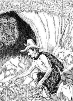 Le berger et le lion. Source : http://data.abuledu.org/URI/519ccbb4-le-berger-et-le-lion