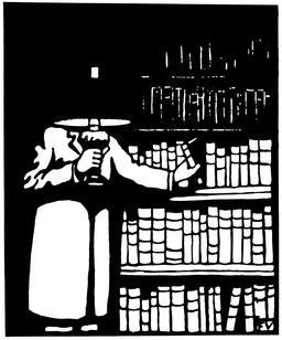 Le bibliophile en 1911. Source : http://data.abuledu.org/URI/55192ac1-le-bibliophile-en-1911