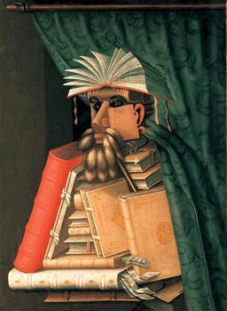 Le bibliothécaire. Source : http://data.abuledu.org/URI/51e6d11c-le-bibliothecaire