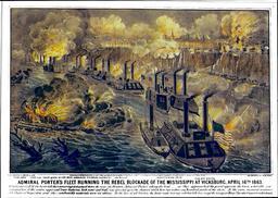 Le blocus de Vicksburg en 1863. Source : http://data.abuledu.org/URI/513858e9-le-blocus-de-vicksburg-en-1863