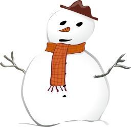 Le bonhomme de neige à l'écharpe. Source : http://data.abuledu.org/URI/5480b183-le-bonhomme-de-neige-a-l-echarpe