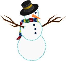 Le bonhomme de neige à l'écharpe multicolore. Source : http://data.abuledu.org/URI/5480b1eb-le-bonhomme-de-neige-a-l-echarpe-multicolore