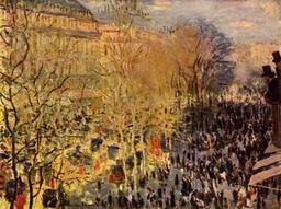 Le boulevard des Capucines à Paris en 1873. Source : http://data.abuledu.org/URI/596bf23f-le-boulevard-des-capucines-a-paris-en-1873