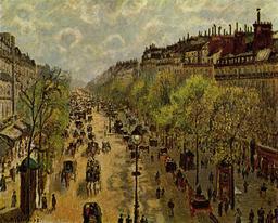 Le boulevard Montmartre au printemps. Source : http://data.abuledu.org/URI/516db6fe-le-boulevard-montmartre-au-printemps
