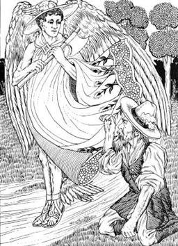 Le Bûcheron et Mercure. Source : http://data.abuledu.org/URI/519cc7ac-le-bucheron-et-mercure