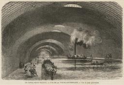 Le Canal Saint-Martin en 1862. Source : http://data.abuledu.org/URI/58704d5c-le-canal-saint-martin-en-1862