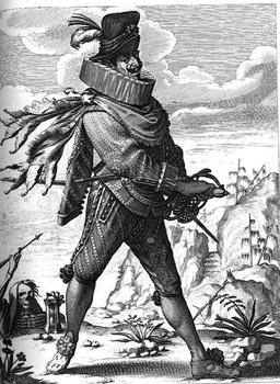 "Le ""capitan"" espagnol au XVIIème siècle. Source : http://data.abuledu.org/URI/51c166ce-le-capitan-espagnol-au-xviieme-siecle"