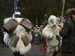 Le carnaval de la Vijanera, l'ours. Source : http://data.abuledu.org/URI/516f99f6-le-carnaval-de-la-vijanera-l-ours