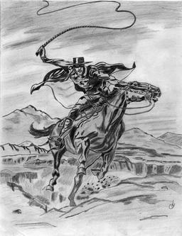 Le cavalier Zorro. Source : http://data.abuledu.org/URI/535fc0db-le-cavalier-zorro