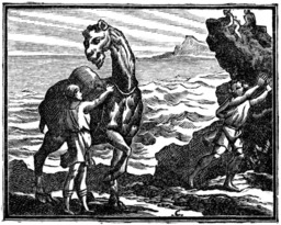 Le chameau et les bâtons flottants. Source : http://data.abuledu.org/URI/510bc061-le-chameau-et-les-batons-flottants
