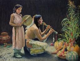 Le chant de la récolte dans une tribu indienne. Source : http://data.abuledu.org/URI/5337003d-le-chant-de-la-recolte-dans-une-tribu-indienne
