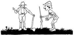 Le chasseur et le bûcheron. Source : http://data.abuledu.org/URI/517d713f-le-chasseur-et-le-bucheron
