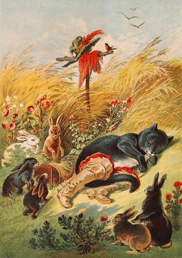 Le chat botté et l'épouvantail. Source : http://data.abuledu.org/URI/502143b3-le-chat-botte-et-l-epouvantail