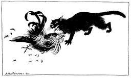 Le chat et le coq. Source : http://data.abuledu.org/URI/517d4c9d-le-chat-et-le-coq