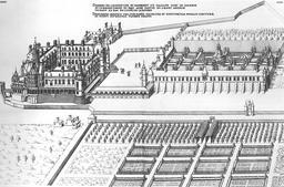 Le château de Gaillon en 1576. Source : http://data.abuledu.org/URI/532eb45a-le-chateau-de-gaillon-en-1576