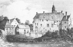 Le château de Vischering en 1840. Source : http://data.abuledu.org/URI/566e5f33-le-chateau-de-vischering-en-1840