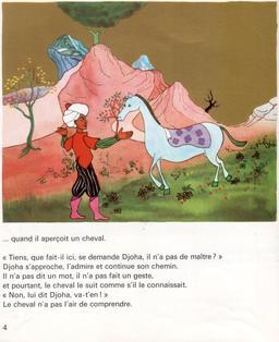 Le cheval de Djoha - 4. Source : http://data.abuledu.org/URI/561de9ba-le-cheval-de-djoha-4