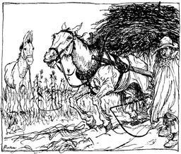 Le cheval et l'âne. Source : http://data.abuledu.org/URI/517d7197-le-cheval-et-l-ane