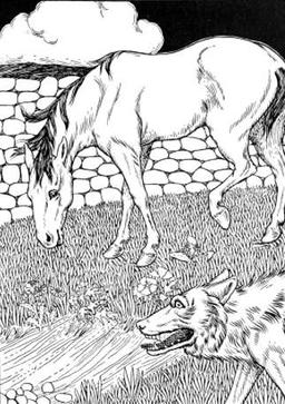 Le Cheval et le Loup. Source : http://data.abuledu.org/URI/519ccc16-le-cheval-et-le-loup