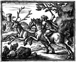 Le cheval s'étant voulu venger d'un cerf. Source : http://data.abuledu.org/URI/510bc700-le-cheval-s-etant-voulu-venger-d-un-cerf