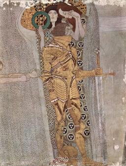 Le chevalier d'or de la frise à Beethoven en 1902. Source : http://data.abuledu.org/URI/53e7eeb9-le-chevalier-d-or-de-la-frise-a-beethoven-en-1902