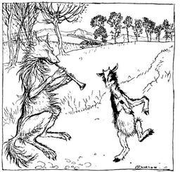 Le chevreau et le loup. Source : http://data.abuledu.org/URI/517d6560-le-chevreau-et-le-loup