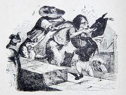 Le chien qui porte à son cou le diner. Source : http://data.abuledu.org/URI/51fa0364-le-chien-qui-porte-a-son-cou-le-diner