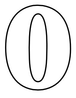 Le chiffre 0 à colorier. Source : http://data.abuledu.org/URI/533170cb-le-chiffre-0-a-colorier