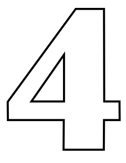 Le chiffre 4 à colorier. Source : http://data.abuledu.org/URI/533171b1-le-chiffre-4-a-colorier