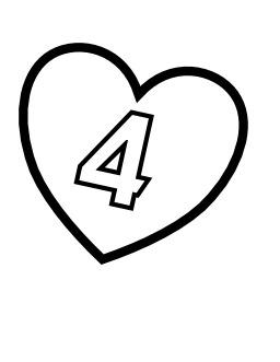 Le chiffre 4 dans un coeur. Source : http://data.abuledu.org/URI/533165a5-le-chiffre-4-dans-un-coeur