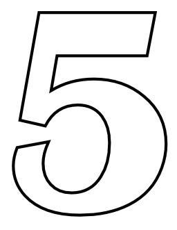 Le chiffre 5 à colorier. Source : http://data.abuledu.org/URI/533171e6-le-chiffre-5-a-colorier
