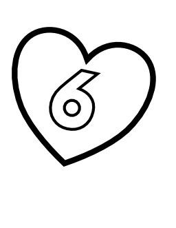 Le chiffre 6 dans un coeur. Source : http://data.abuledu.org/URI/5331661e-le-chiffre-6-dans-un-coeur