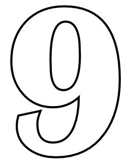 Le chiffre 9 à colorier. Source : http://data.abuledu.org/URI/533172b1-le-chiffre-9-a-colorier