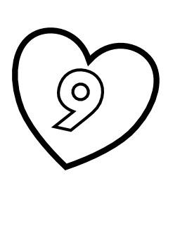 Le chiffre 9 dans un coeur. Source : http://data.abuledu.org/URI/53316730-le-chiffre-9-dans-un-coeur