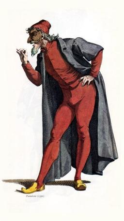 Le clown Pantalone en 1550. Source : http://data.abuledu.org/URI/51c15cd5-le-clown-pantalone-en-1550
