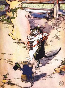 Le cochon, le chat et le rat font la fête. Source : http://data.abuledu.org/URI/50eee8a1-le-cochon-le-chat-et-le-rat-font-la-fete
