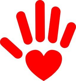 Le coeur sur la main rouge. Source : http://data.abuledu.org/URI/5330a4c8-le-coeur-sur-la-main-rouge
