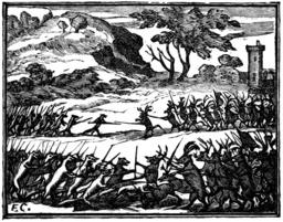 Le combat des rats et des belettes. Source : http://data.abuledu.org/URI/510bca40-le-combat-des-rats-et-des-belettes