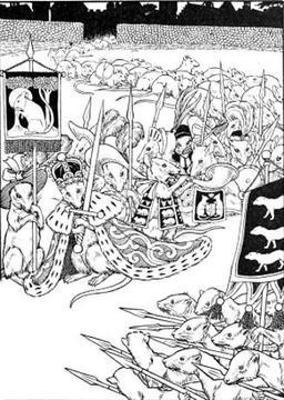 Le Combat des Rats et des Belettes. Source : http://data.abuledu.org/URI/519cebbe-le-combat-des-rats-et-des-belettes