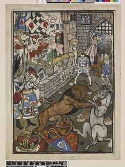 Le combat du lion et de la licorne. Source : http://data.abuledu.org/URI/47f5f014-le-combat-du-lion-et-de-la-licorne